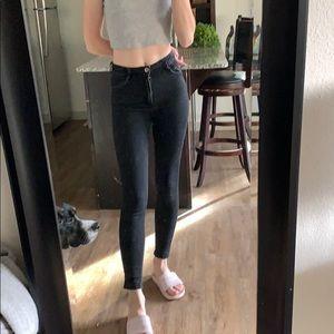Zara high waist black jeans